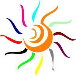 colorful sun clip at clker vector clip