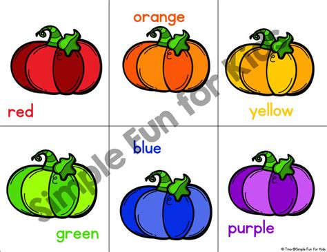 pumpkin colors rainbow pumpkin color matching simple for