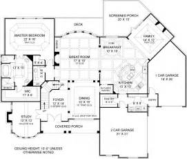 house plans with a view to the rear drewnoport 7395 4 bedrooms and 4 baths the house designers
