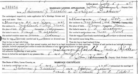 Lucas County Ohio Marriage Records The Enthusiastic Genealogist January 2017