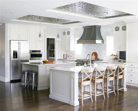 tin ceiling tile installed traditional kitchen other kitchen trend tin ceiling tiles so chic life