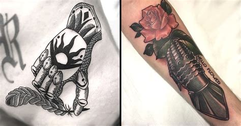 gauntlet tattoo design become a in shining armor with these gauntlet