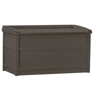 patio box home depot suncast 50 gal resin deck box db5500j the home depot