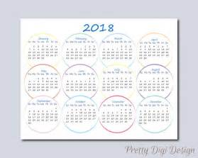 Calendrier 2018 To Print Printable One Page Calendar 2018 Ready To Print Calendar