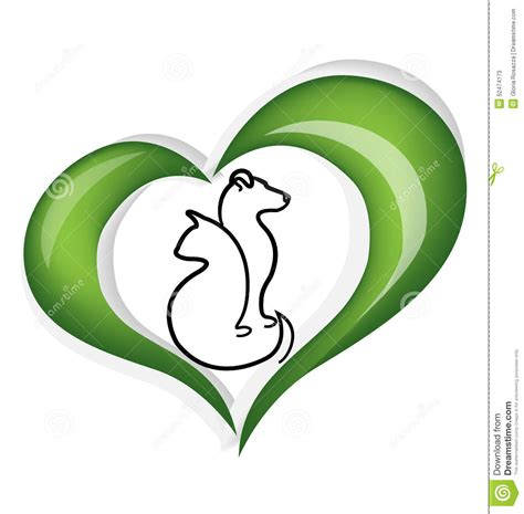 How To Draw House Plans On Computer Cat And Dog Heart Logo Stock Vector Image Of Doggy