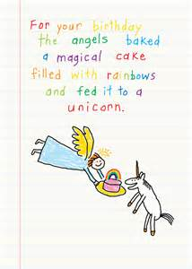 unicorn birthday card greeting rainbow clayboys