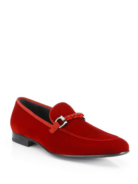 mens velvet loafer ferragamo lord velvet loafers in for lyst
