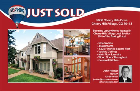 Just Sold Realtor Postcards Arts Arts Real Estate Just Sold Flyer Templates