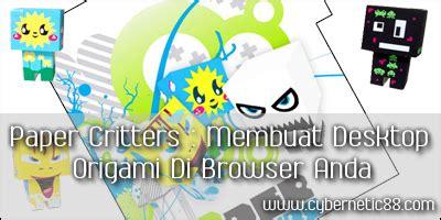 Origami Browser - paper critters membuat desktop origami di browser anda