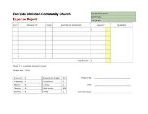 Church Expenses Template blank expense report helloalive