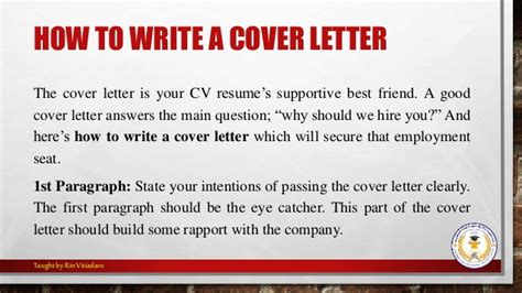 Cover Letter Omit Salutation For Writing A Cover Letter