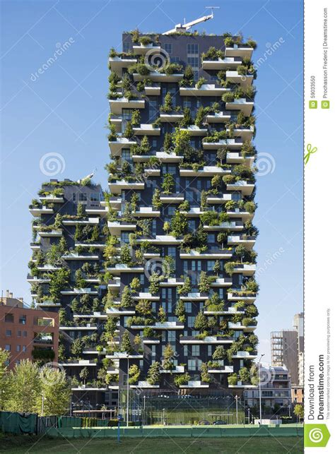 vertical forest building in vancouver features an skyscraper vertical forest editorial image image of