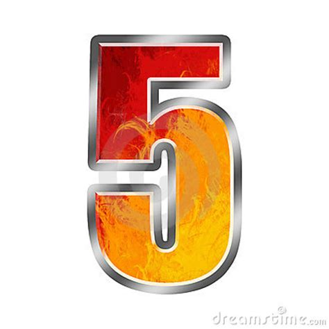 In Flames 5 flames alphabet number 5 five stock image image 6854341