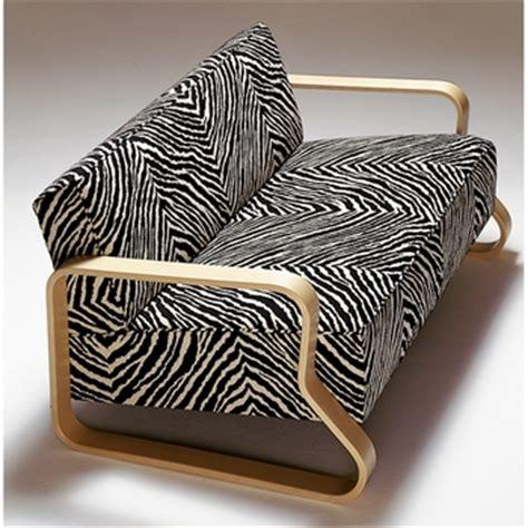 zebra sofa artek alvar aalto sofa 544 zebra upholstery other