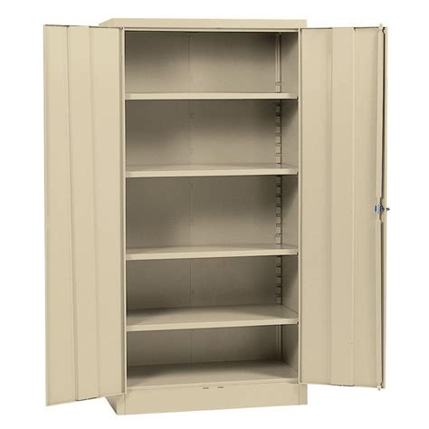 Steel Storage Cabinets Realspace 72 Steel Storage Cabinet With 4 Adjustable Shelves 72 H X 36 W X 18 D Putty