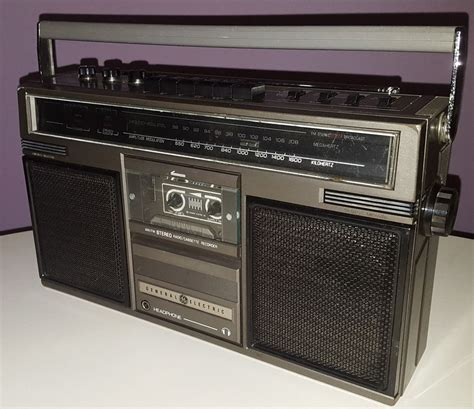 general electric vintage boombox ge 3 5252a retro 1980s