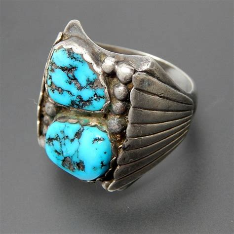 I Ring Keropy 1 american adam fiero navajo sterling silver boulder turquoise s ring size 10 75