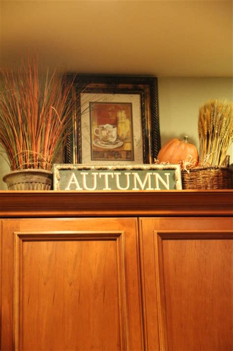 how to decorate kitchen cabinets upper kitchen cabinets decorated for fall traditional