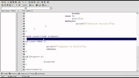 online tutorial data structure using c data structure tutorial 3 1 queue using array c program