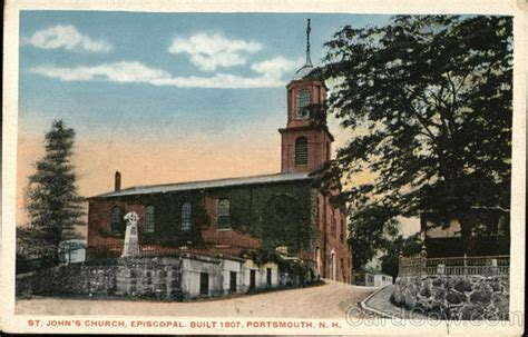 Portsmouth Nh Post Office by St S Episcopal Church Portsmouth Nh Postcard