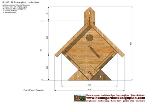 plans for construction of house home garden plans bh102 bird house plans construction bird house design how to
