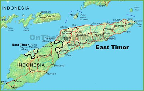 east timor maps east timor physical map