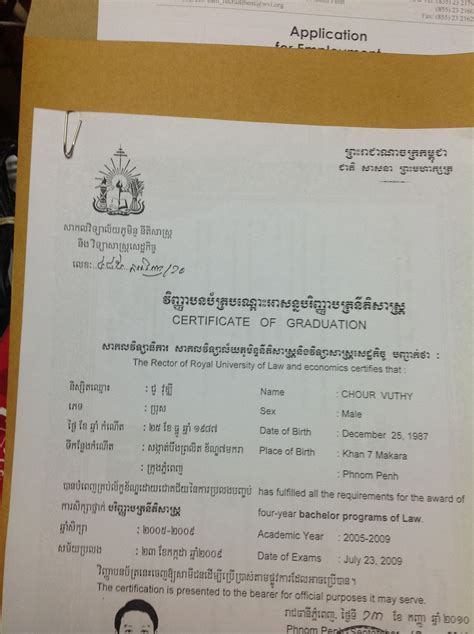 how to prepare application khmer personnel