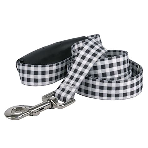 southern comfort handle southern dawg gingham ez grip dog leash by yellow dog