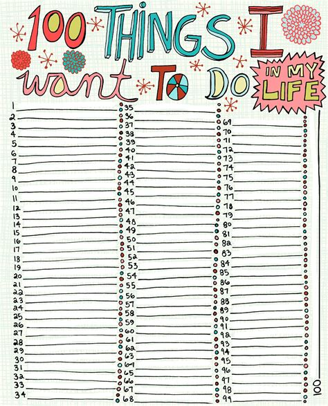 7 Things I Want To Cook by 100 Things I Want To Do In My Great For Journaling
