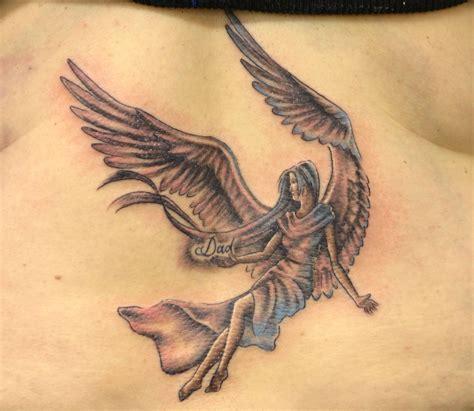 ангел с надписью dad папа фото татуировок