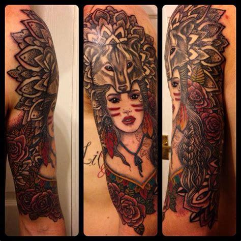 wolf tattoo sleeve half sleeve with wolf hat tattoos tattoos