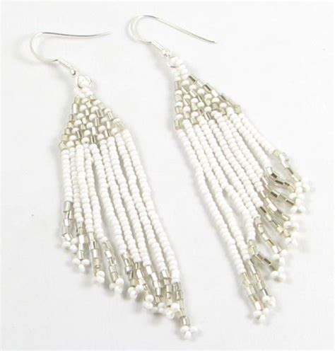 beadwork white 101 best white mix beadwork earrings images on