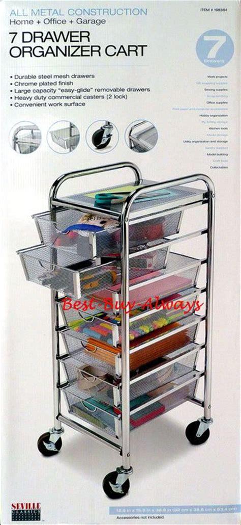 mesh drawer organizer cart 7 drawer rolling organizer with table all metal mesh