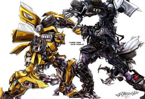 Bumble Bee Wall Stickers bumblebee fight the transformers fan art 36901582 fanpop