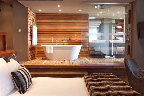 Modern bathroom design: Open plan suite   SA Garden and Home
