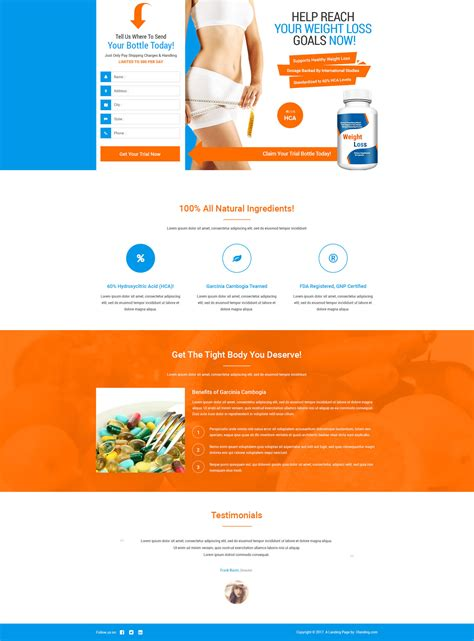 lead gen responsive weight loss squeeze page template with