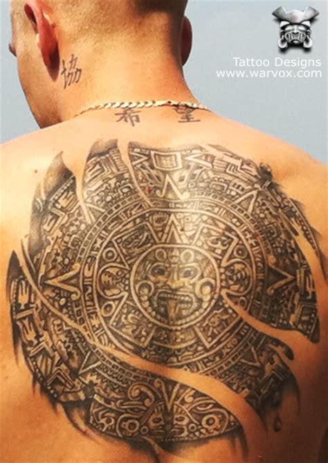 mayan calendar tattoo designs aztec calendar aztec tattoos aztec mayan inca