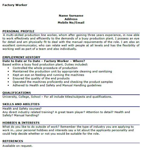 stunning factory labourer resume sample in captivating sample resume