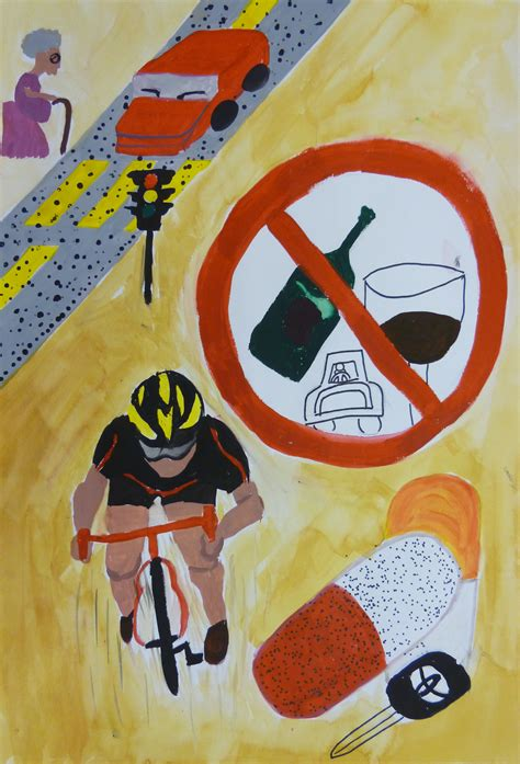 poster design road safety art gallery competition 3l kwai yuen ying road