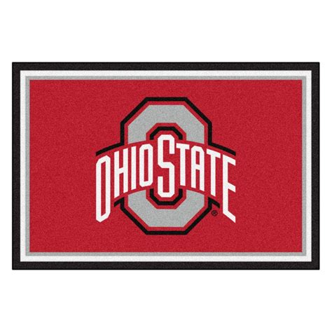 ohio state area rug fanmats ohio state 5 ft x 8 ft area rug 6265 the home depot