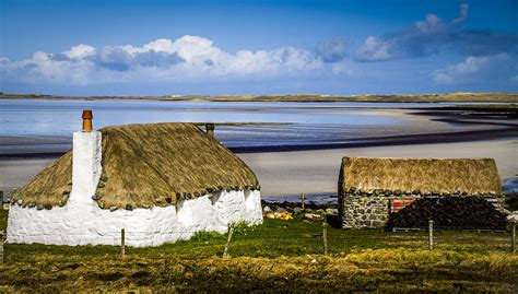 Cottages In By The Sea by Scottish Thatched Cottage By The Sea Photograph By Alex