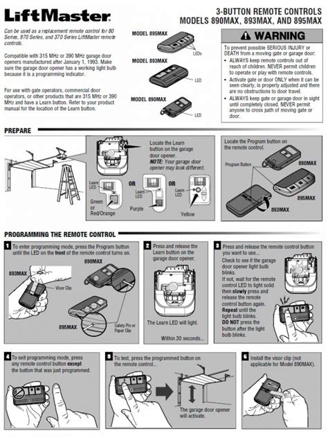 liftmaster garage door opener manual liftmaster garage door remote programming ppi