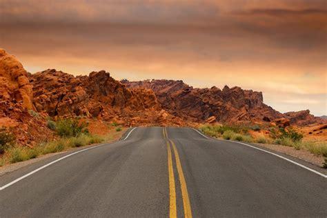 picture desert road highway asphalt landscape