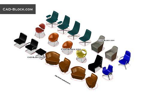 3d Cad Blocks Furniture Free 3d furniture armchairs cad blocks free autocad