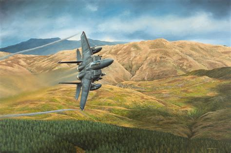 Painting F 15 Model by Usaf F 15e Strike Eagle Sold Keith Davies