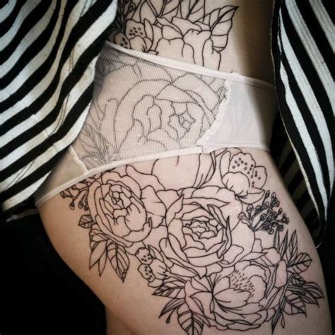 hip thigh tattoo 25 best ideas about floral hip on hip