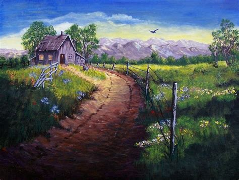 little house of art little house on the prairie acrylic painting by giselle m on deviantart