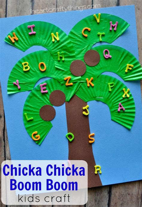 craft projects for kindergarten chicka chicka boom boom craft i crafty things