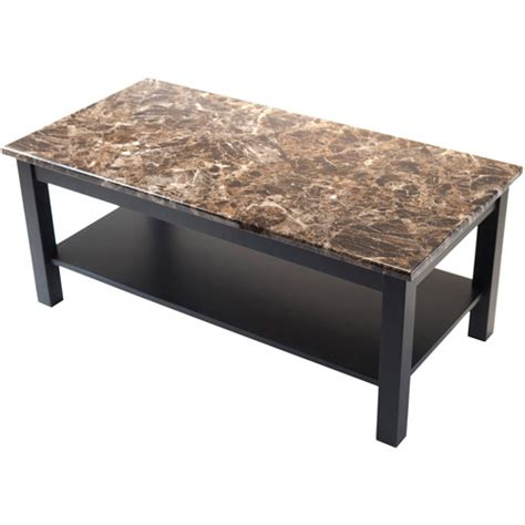 Faux Marble Coffee Table Torri Coffee Table With Faux Marble Black Walmart