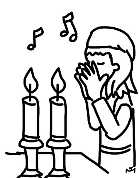jewish preschool coloring pages shabbat table coloring pages coloring page